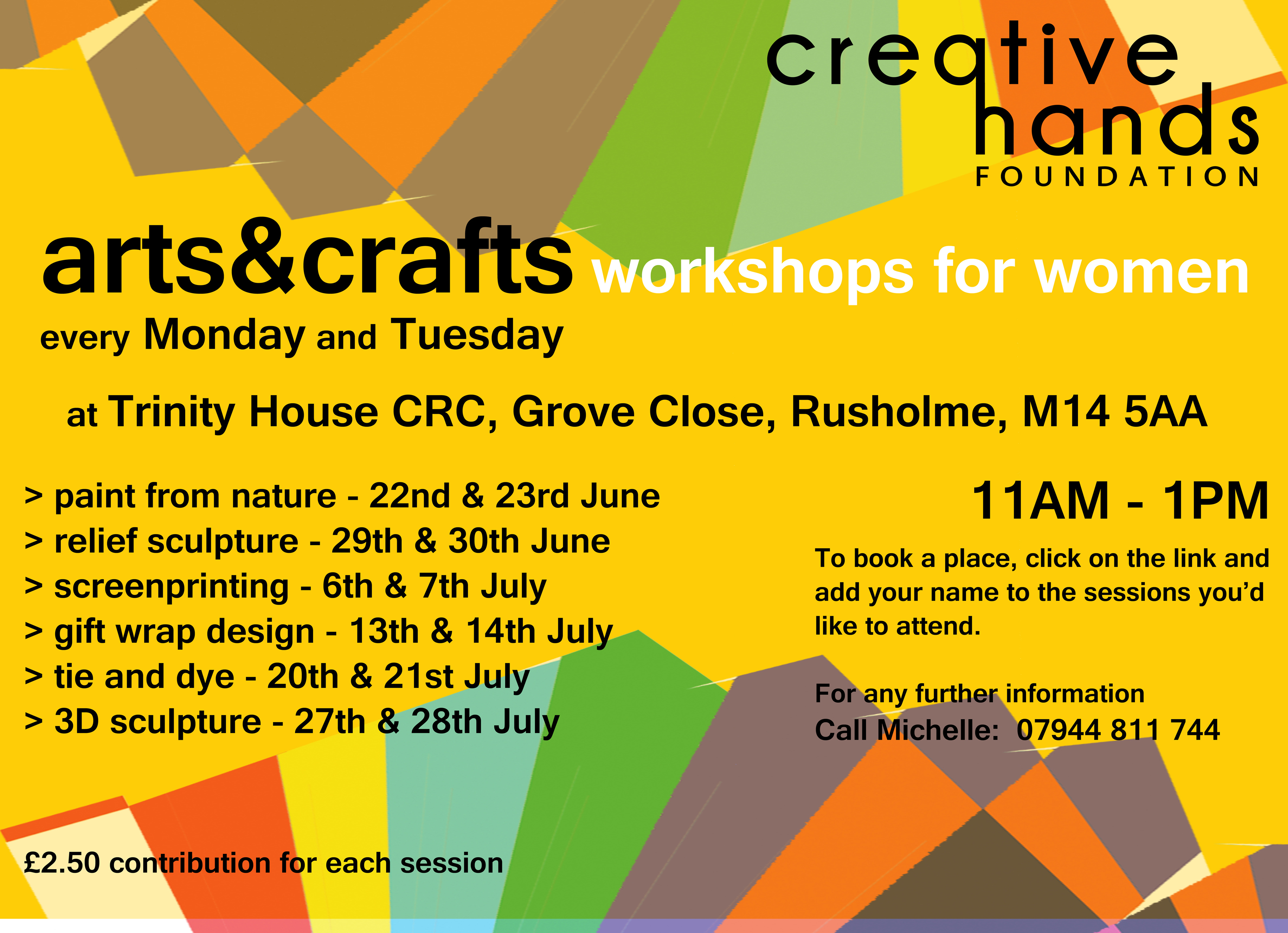 Arts And Crafts Workshops For Women Creativehandsfoundationarts
