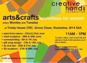 A4NEW ARTS & CRAFTS WORKSHOPS 2015